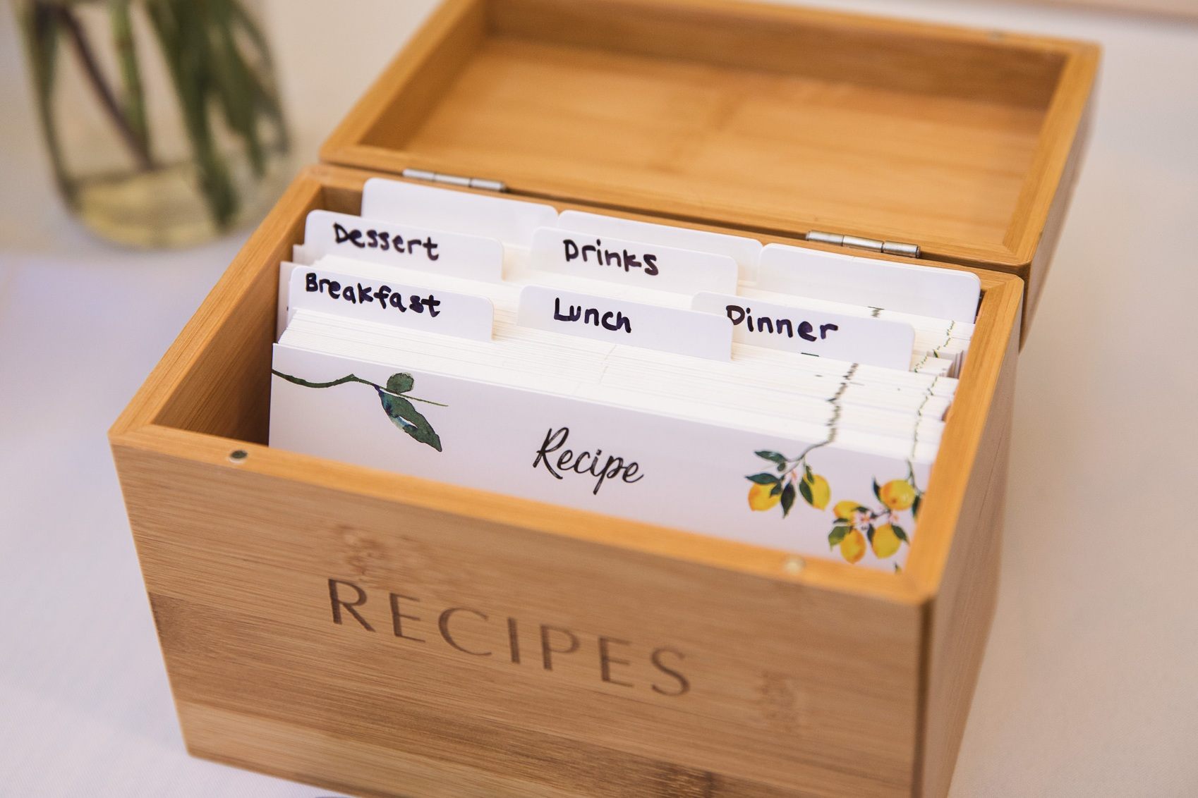 We LOVE this idea! Aside from asking guests to leave a note for the bride and groom at the sign-in table, they've also asked to leave cooking recipes. This will surely come in handy in their new life together. We could probably write an entire blog on this :D.