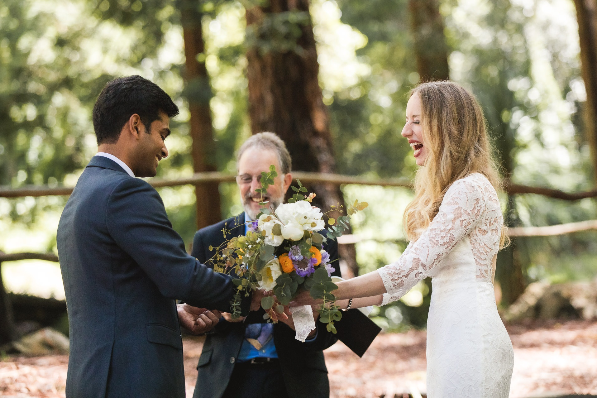 Katie's father was the officiant for their wedding ceremony, so there were plenty of laughs and giggles since he's had experiences of her entire life to share.