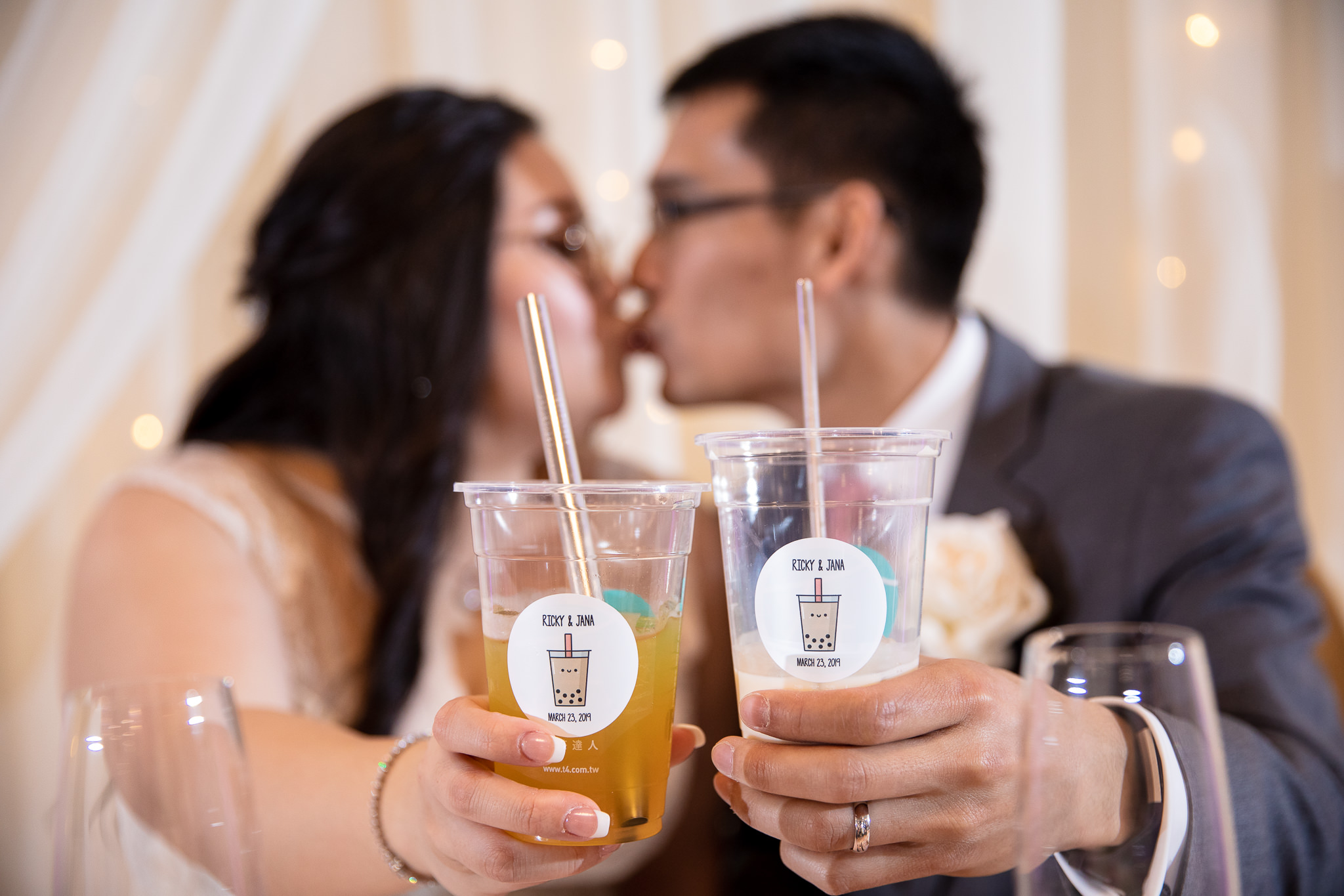 Jana and Ricky had a boba bar by T4 set up at Fortunes Chinese Restaurant. This has become a popular trend in the Bay Area for weddings and we are NOT complaining! :D
