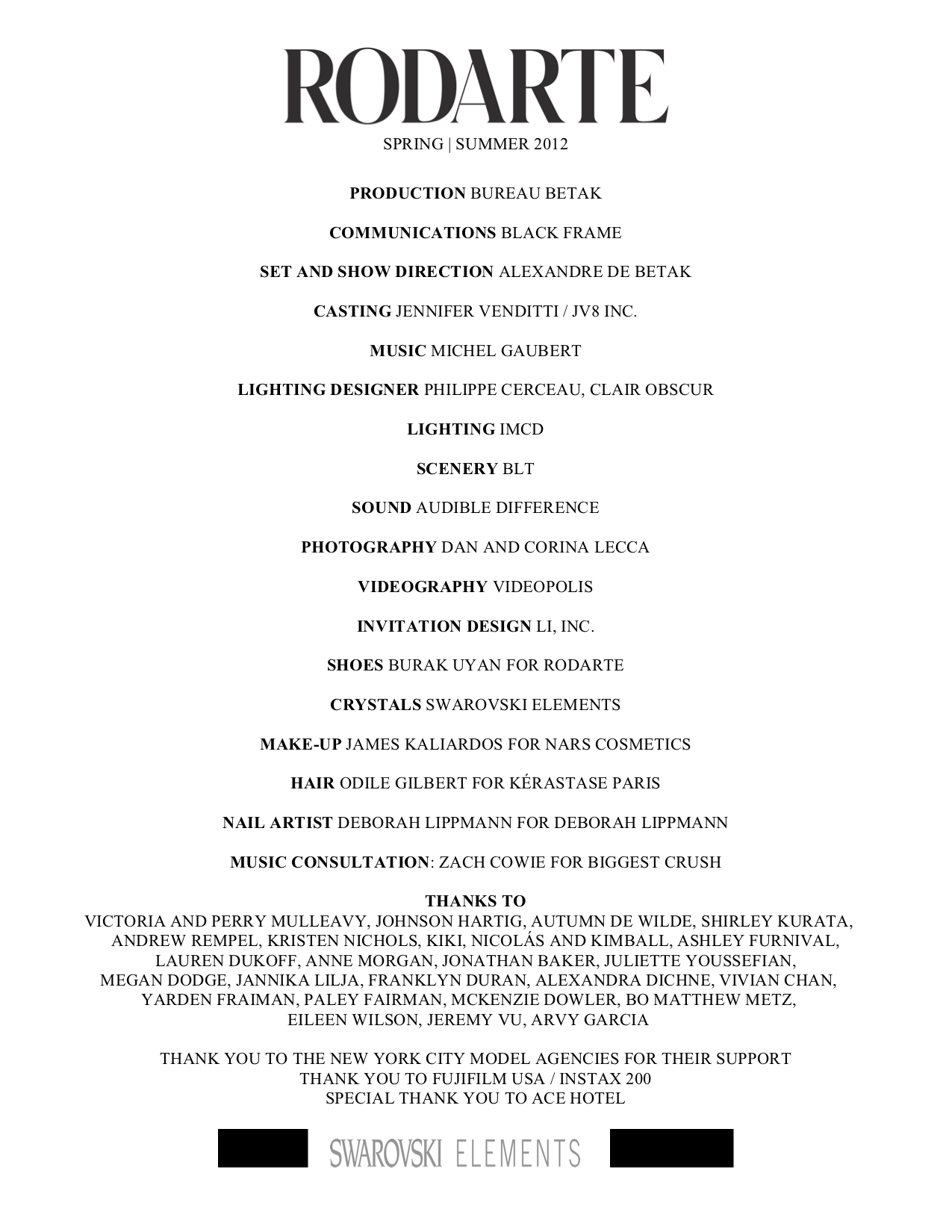 Rodarte Show Program SS12.png