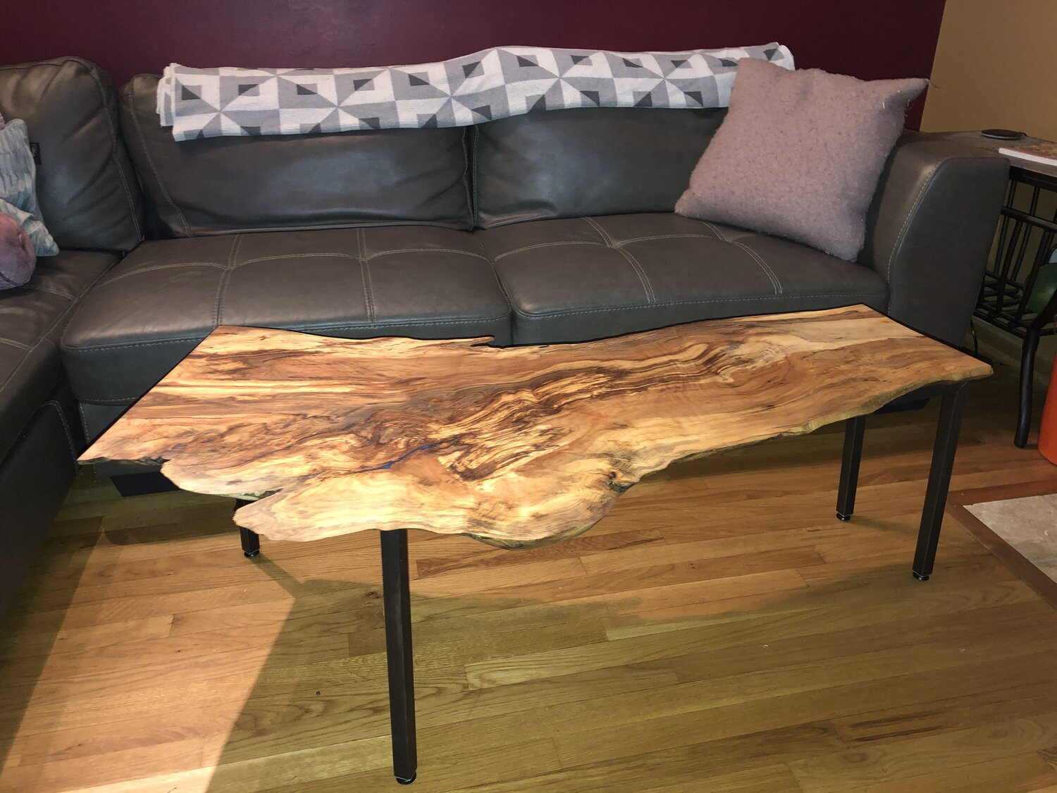 Live Edge Beech Wood Coffee Table Hunter Design Company