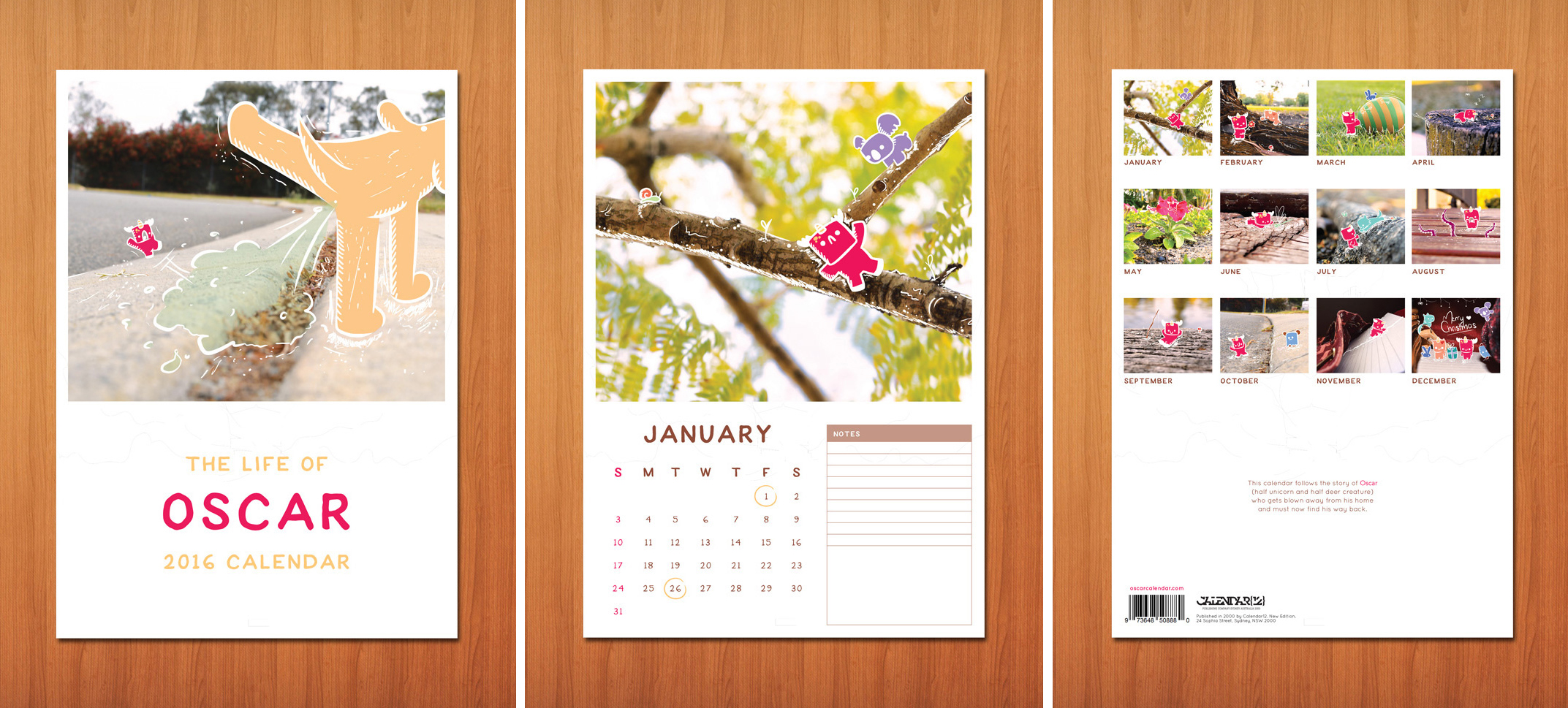 2016 Calendar showing a micro-world. Follows the story of a small creature using art. (2016)