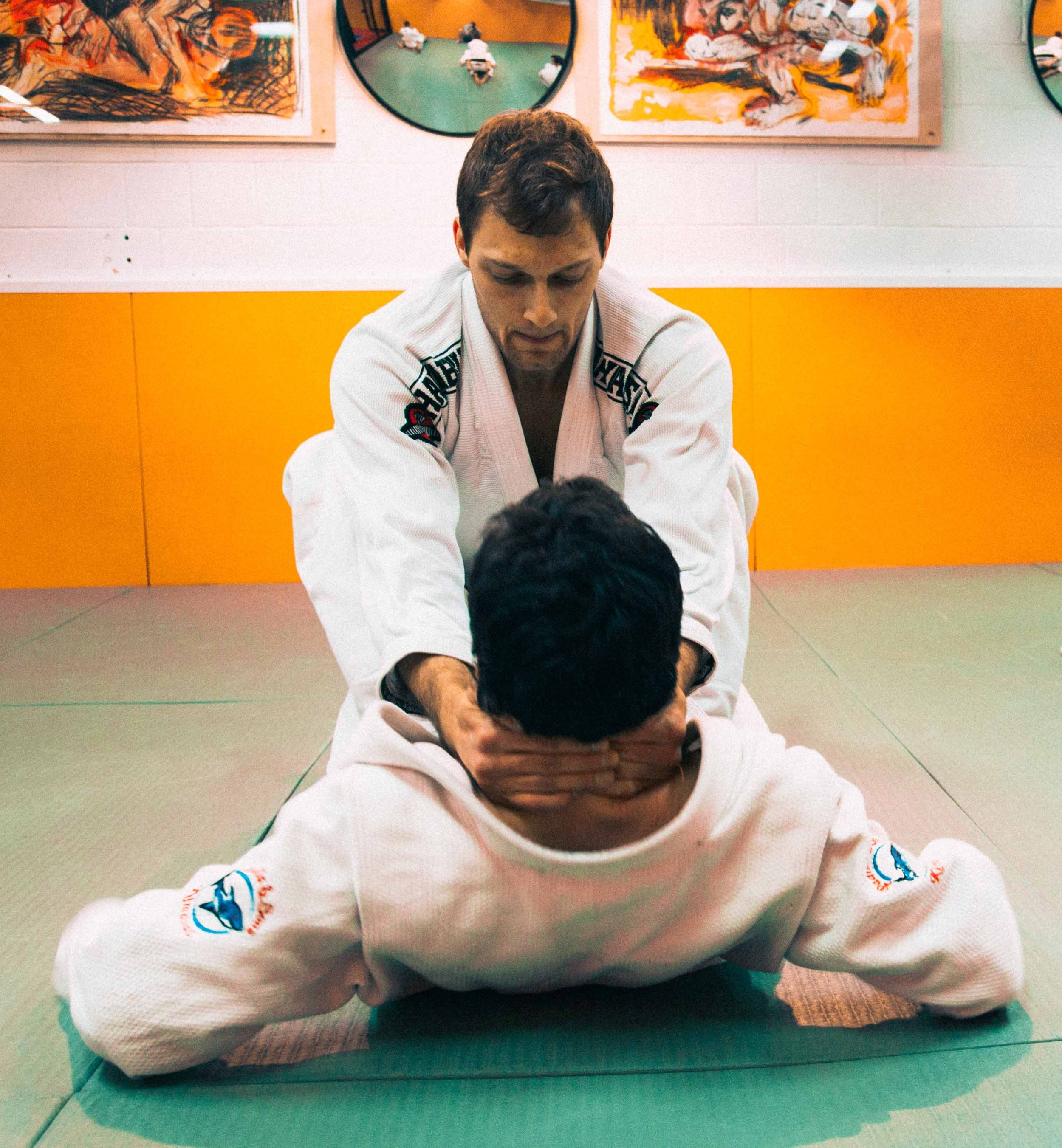What is Jiu Jitsu? - Jiu Jitsu is a primarily grappling martial art that is categorized into modern day sport Judo and sport brazilian Jiu jitsu. It is often said, one art two sports. Jiu jitsu teaches proper falling, throwing, escapes from being pinned, self-defense from strikes, and submissions.