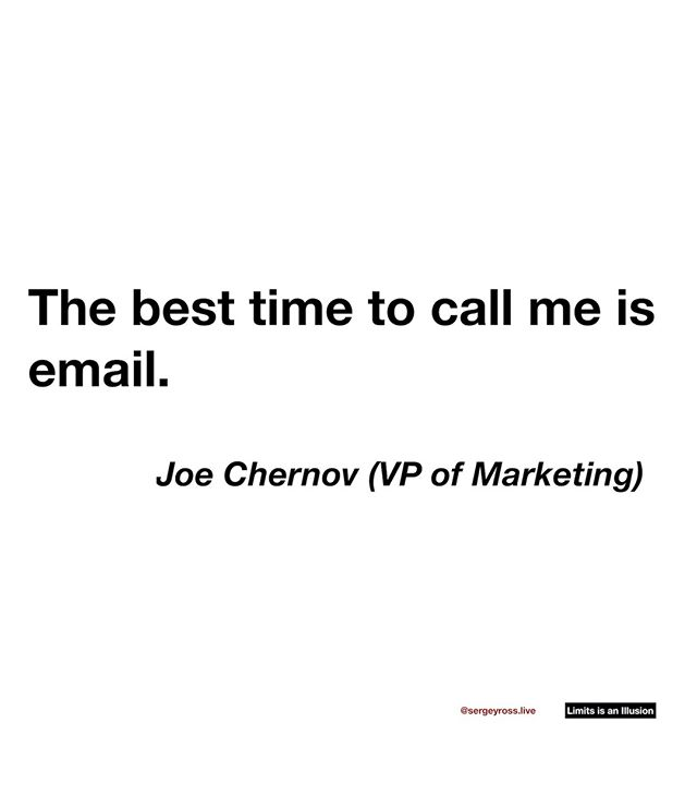 Spend your time wisely like Joe 😎 ⠀ ⠀ ⠀ ⠀ ⠀ ⠀ #Inspirationalquotes #quotes #instaquotes #mindset #lifequotes #lifequote #happiness #hustle #qotd #life #positivity #business #lawofattraction #siliconvalley #visionary #valley #startups #timemanagement #marketing #speed #email #phonecall