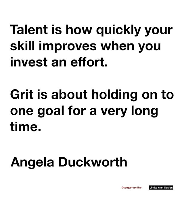 Success is about grit (aka long term game), not talent (aka what you have, can do now). Knowing this difference is a huge advantage. ⠀ ⠀ ⠀ ⠀ ⠀ ⠀ ⠀ ⠀ #grit #skills #crushit #earnit #advicequotes #reallifequotes #realization #selfrealization #knowingyourself #Inspirationalquotes #quotes #motivation #instaquotes #mindset #lifequotes #lifequote #happiness #hustle #life #positivity #success #nevergiveup #quotesoftheday #quotestags #selfcare #selflove #lawofattraction #angeladuckworth