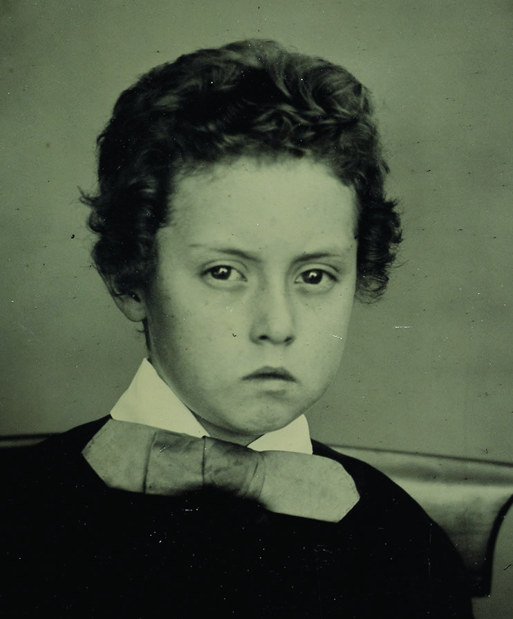 Walter Davenport aged 8 years, unknown photographer, 1861