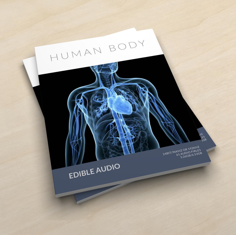 Human Body - 24bit/96khz or 192khz61 Audio Files6.53 GBFile/Metadata DecriptionEquipment Used:Microphones: DPA 4060 Stereo PairRecorder: Sound Devices Mix-Pre 6Additional: Professional Grade Stethoscope