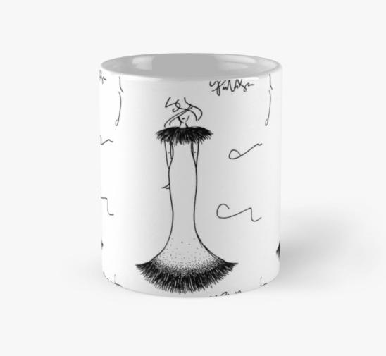 Coffee Mug Fashion Illustration by VON SORELLA
