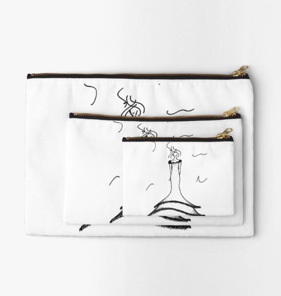 Fashion Illustration Zipper Pouches by VON SORELLA