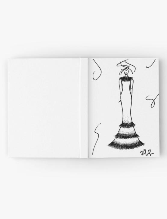 Fashion Illustration Hardcover Journal by VON SORELLA