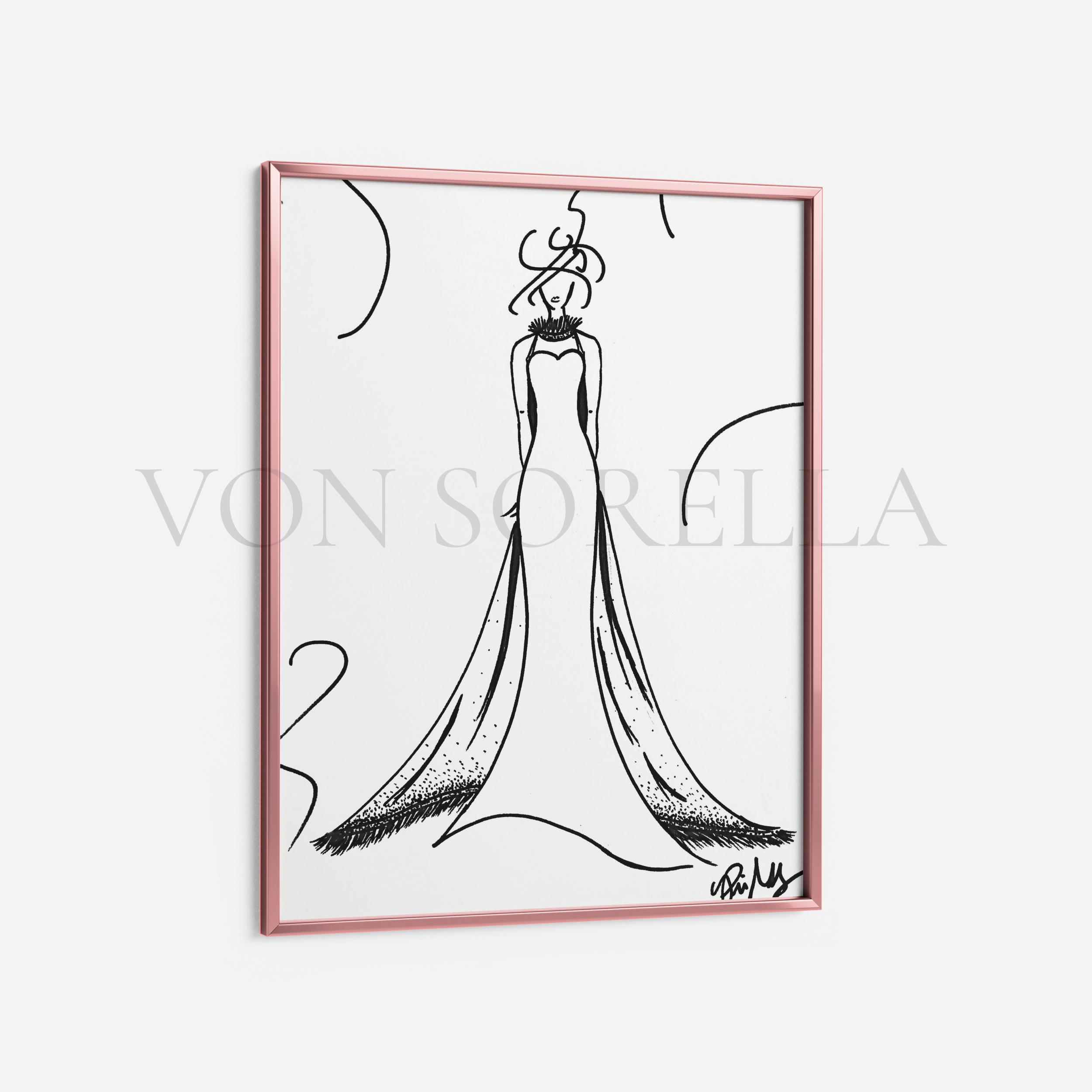 New fashion illustration art prints available now by VON SORELLA. #highfashioneverything