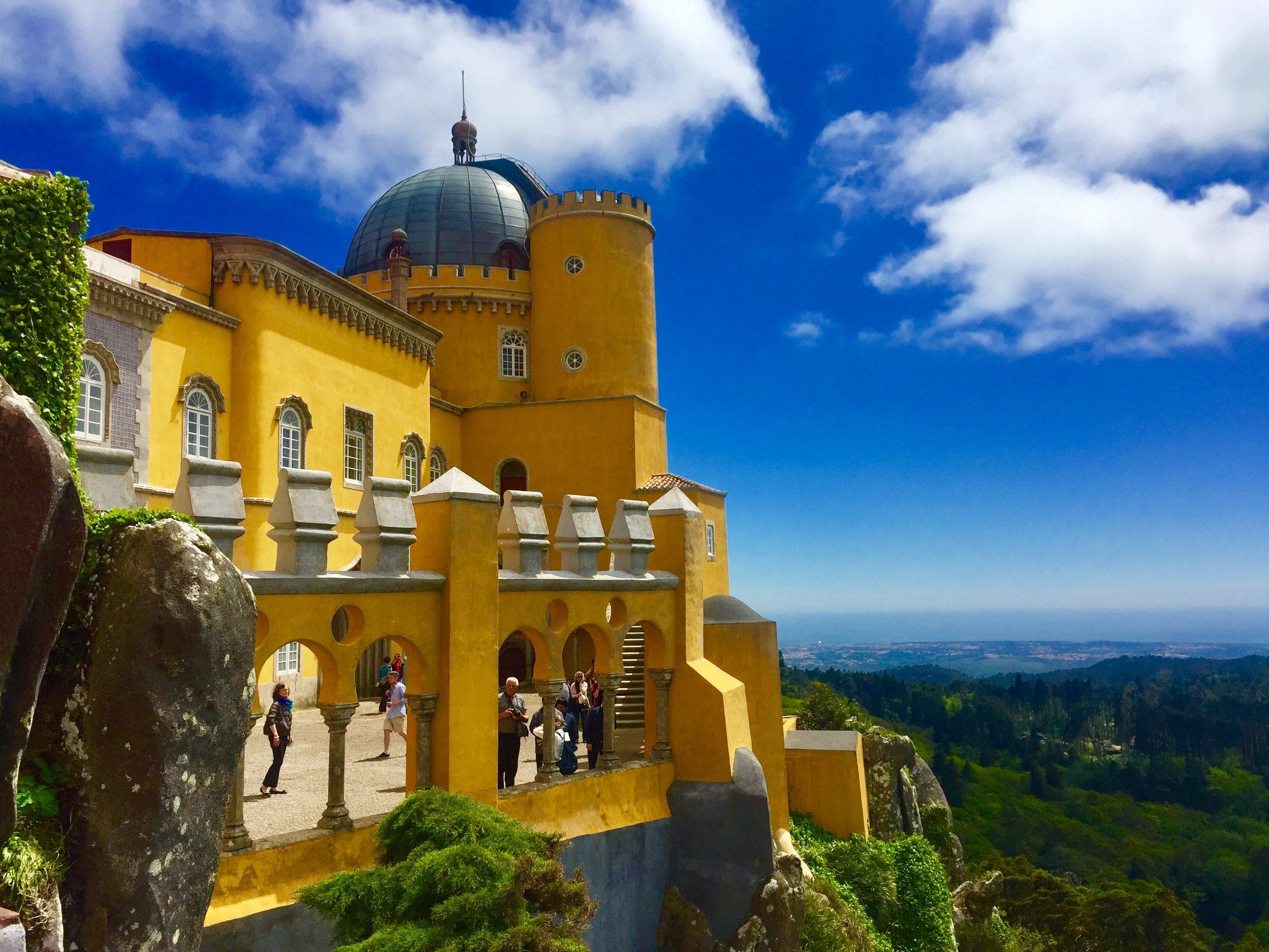 Park and National Palace of Pena in Lisbon, Portugal by Jenvmy via Unsplash