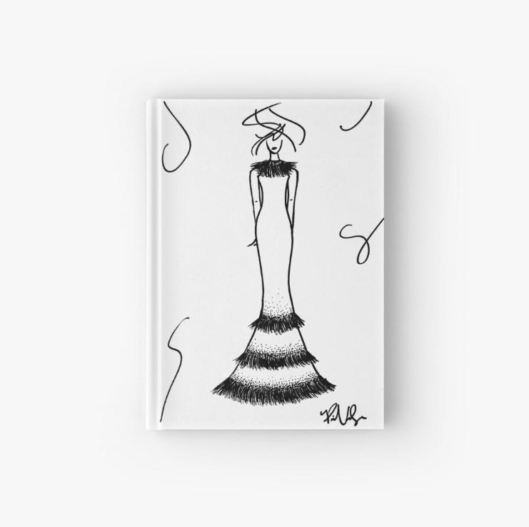 Fashion Illustration Hard Cover Journal by VON SORELLA.