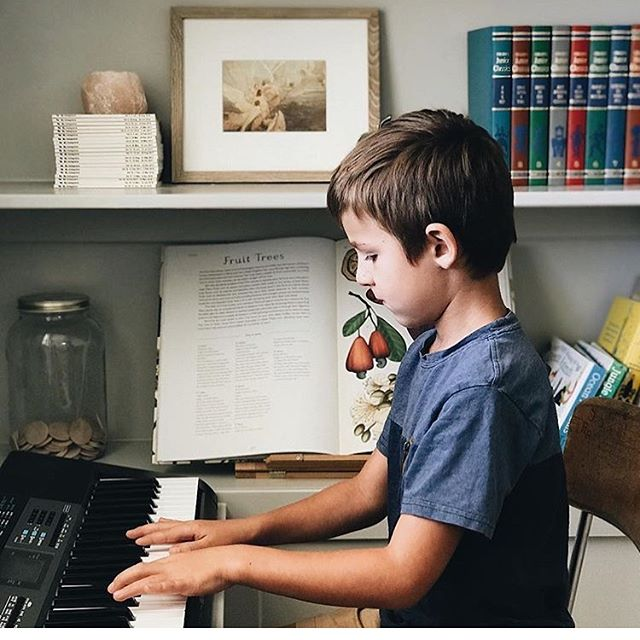 """Our children's happiness depends on their ability to hear and love the beautiful music of the gospel."" — Wilford W. Anderson . . We'd love for you to share how you incorporate hymns and primary songs into your school days!"