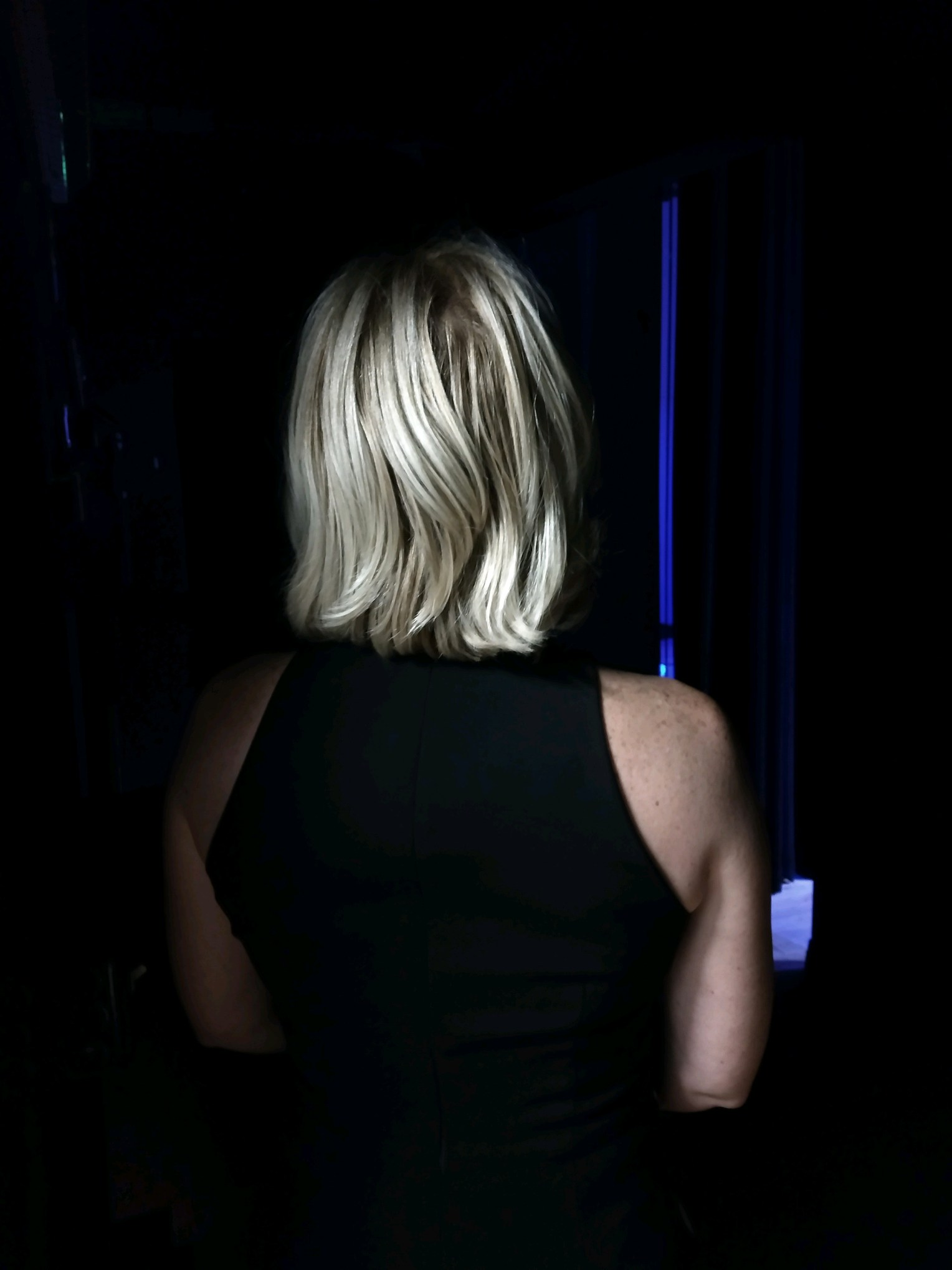 A Bold and Crazy Dream Becomes Reality - In this candid shot, Carrie awaits just behind the stage curtain while the announcer introduces her to the audience at Tedx Ocala in November 2018.