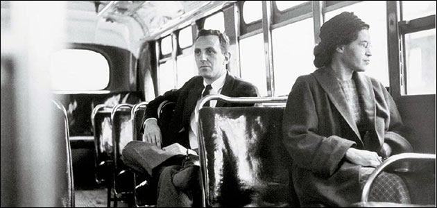 """Her name was Rosa Parks - The first woman to stand up on a bus in Montgomery Alabama on December 1st, 1955 who refused to relinquish her seat in the """"colored section"""" to a white passenger after the whites-only section was filled. She didn't get on the bus planning to become an activist, however, became """"the first lady of civil rights"""" and """"the mother of the freedom movement"""" and also received the Nobel Peace Prize."""