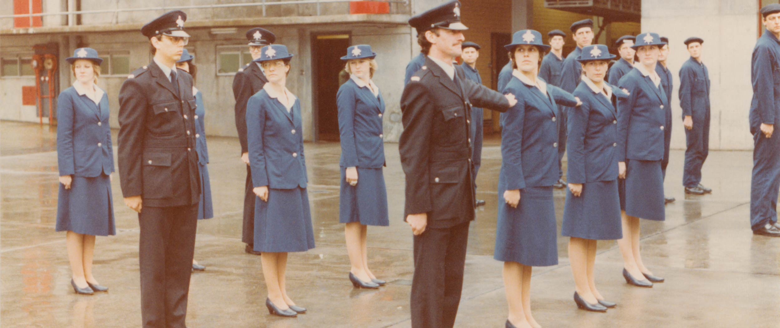 The impracticality of the women's uniform was felt when serious call-outs required operators to run down two flights of stairs, cross the street and climb into the communications van to provide onsite support to the firefighters.