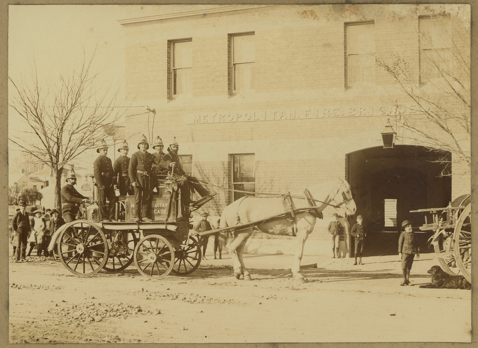 Williamstown Fire Brigade, Cecil Street, c1880.