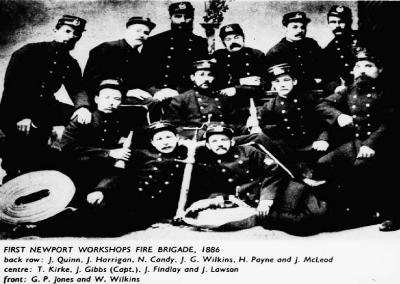 newport workshops fire brigade 1889.png