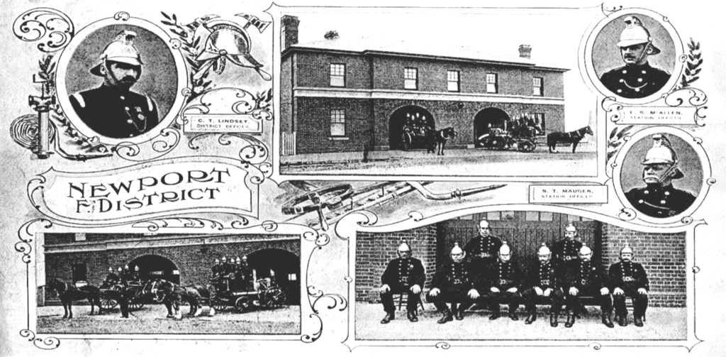 Newport Fire Station, 1911. Fire Services Museum Collection.