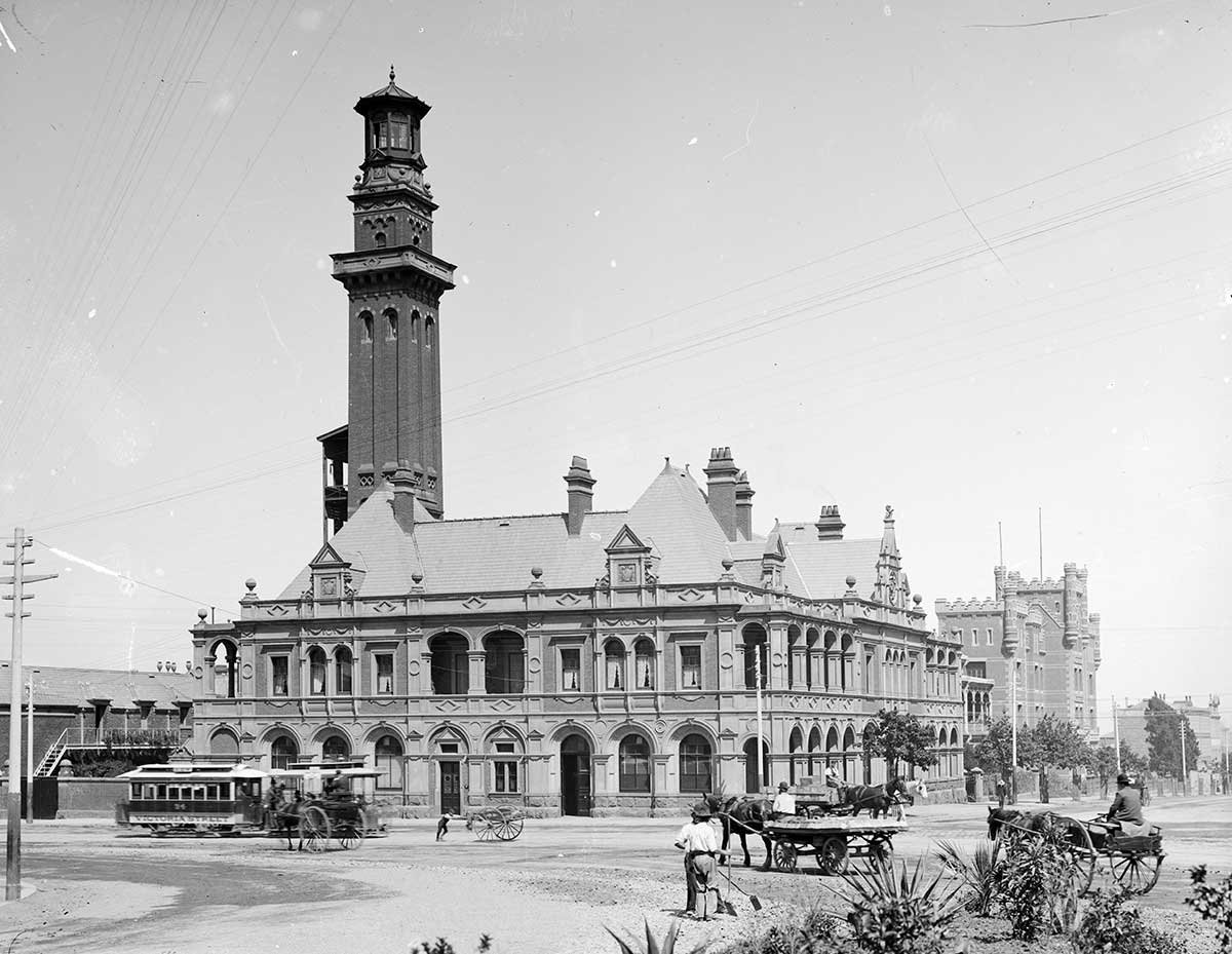Eastern Hill Fire Station, c.1893-1914. H2008.105/5, State Library Victoria.