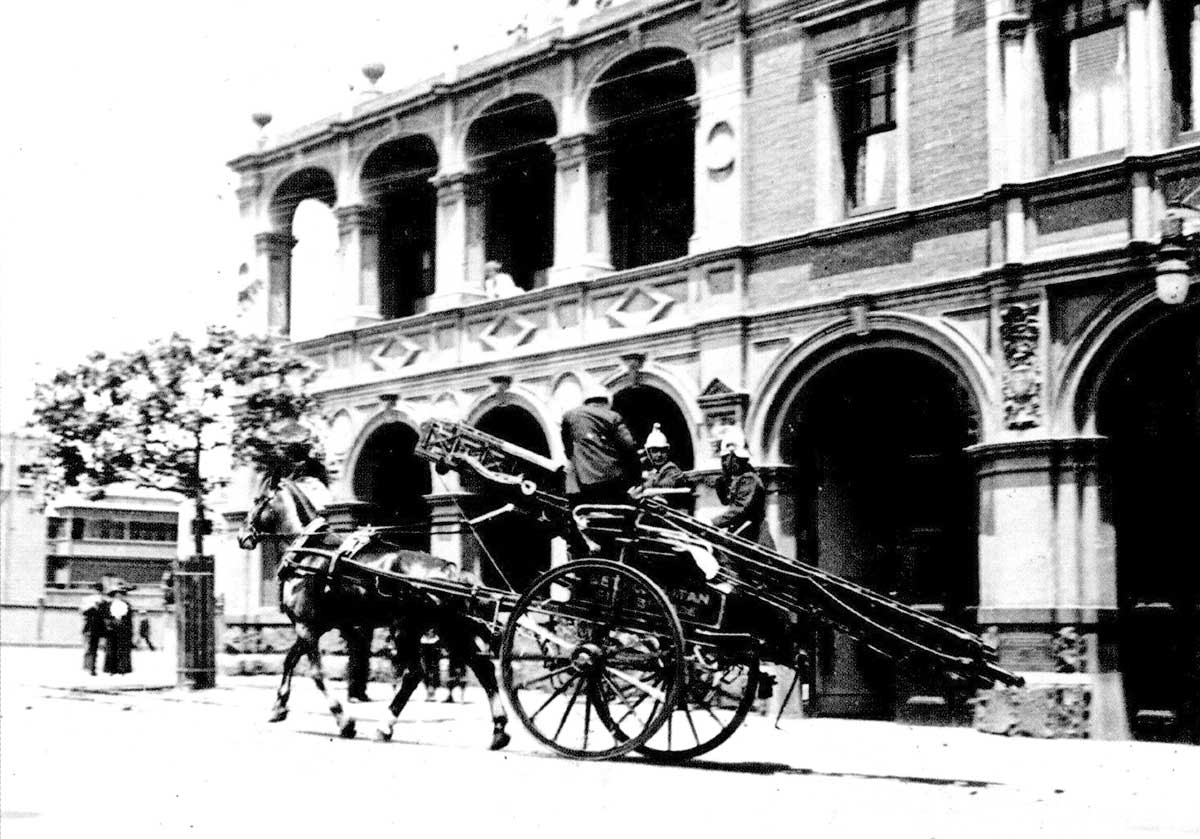 Eastern Hill Fire Station, c. 1900. Fire Services Museum collection.