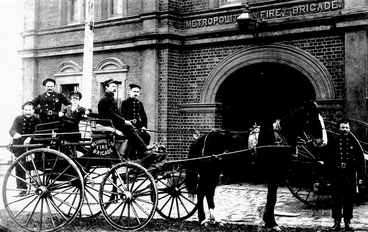 Northcote Fire Station, c. 1900s. Fire Services Museum collection.