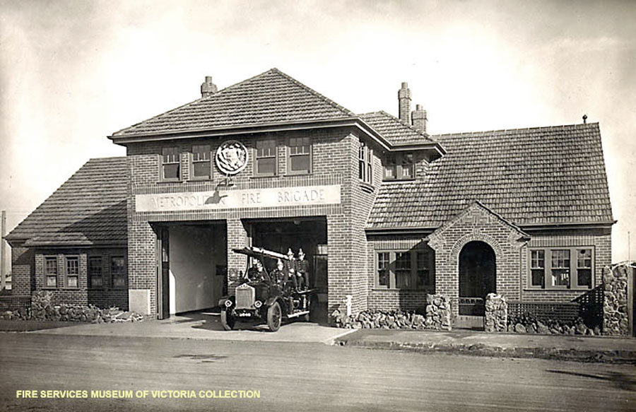 Oakleigh Fire Station No. 25 in 1935. Fire Services Museum collection.