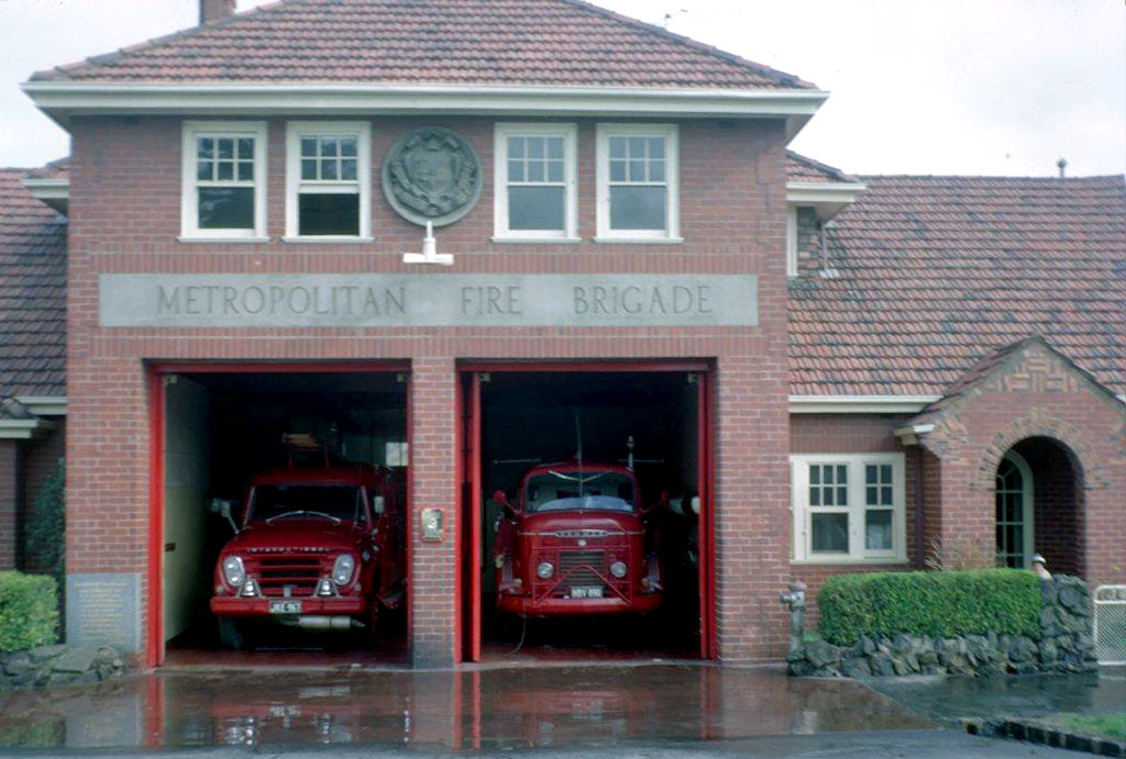 Oakleigh Fire Station No. 25, c. 1950s. MFB archive.