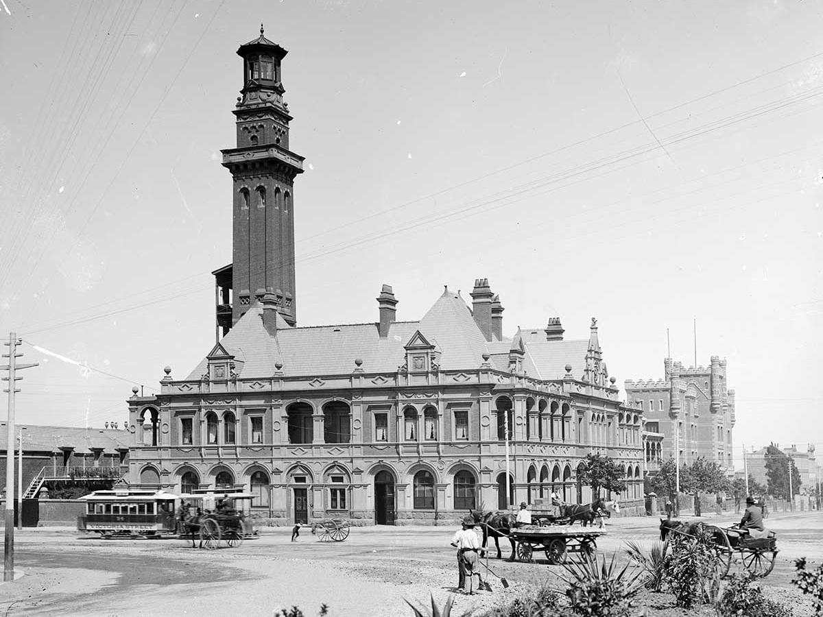 MFB's long-time base was the 1893 Eastern Hill Fire Station, situated on the corner of Victoria Parade and Gisborne Street in East Melbourne.