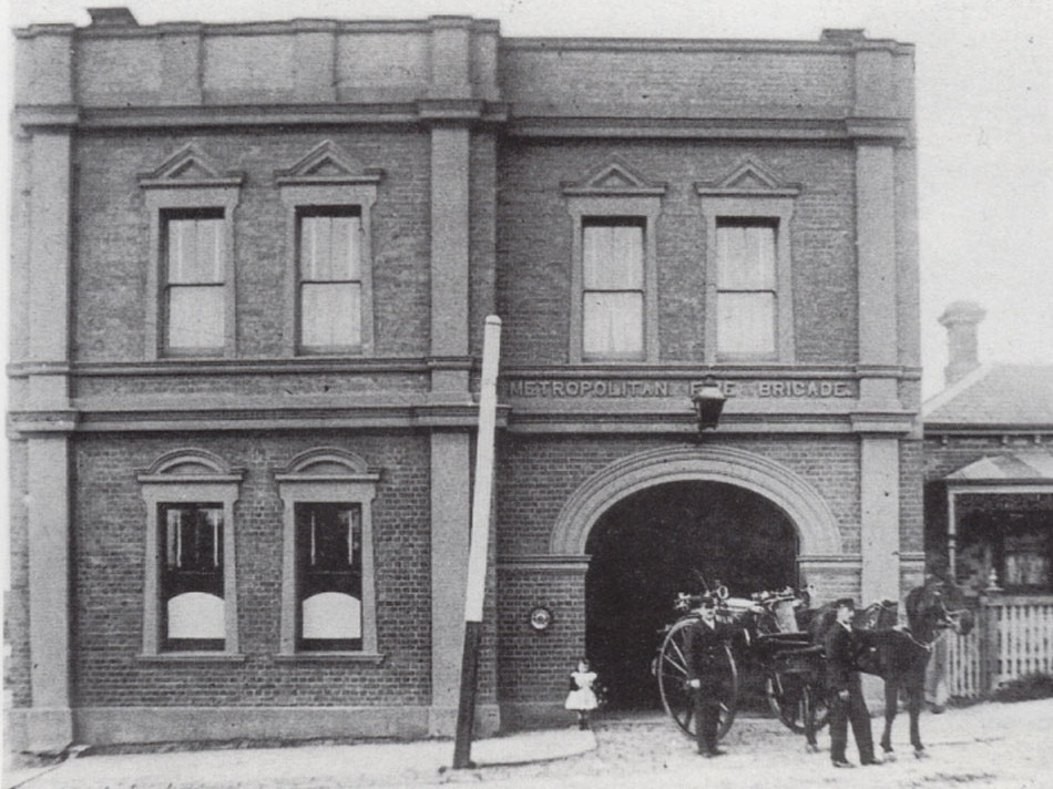 The Newport Railway Workshops had their own brigade which was attending fires at the workshops and the local community from 1887.