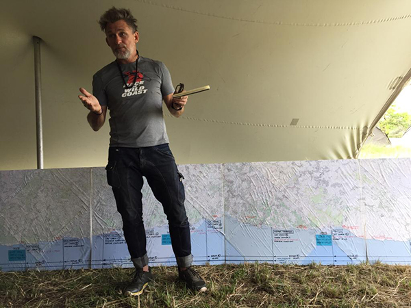 Barry, the race organiser, preps contestants for their next adventure. Photo courtesy Katy Willings.