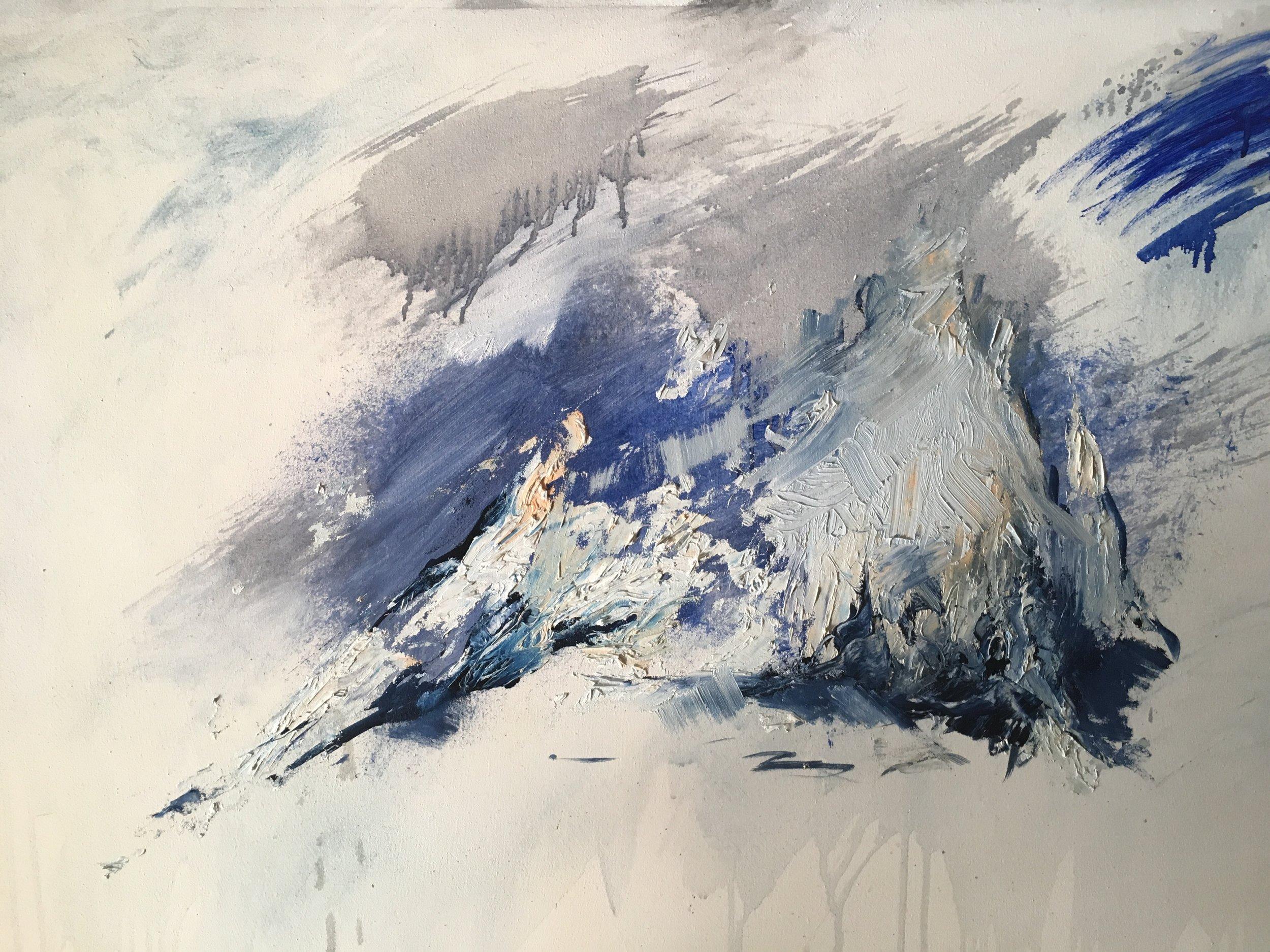 Glossario, 2018, oil on canvas, 100x120.
