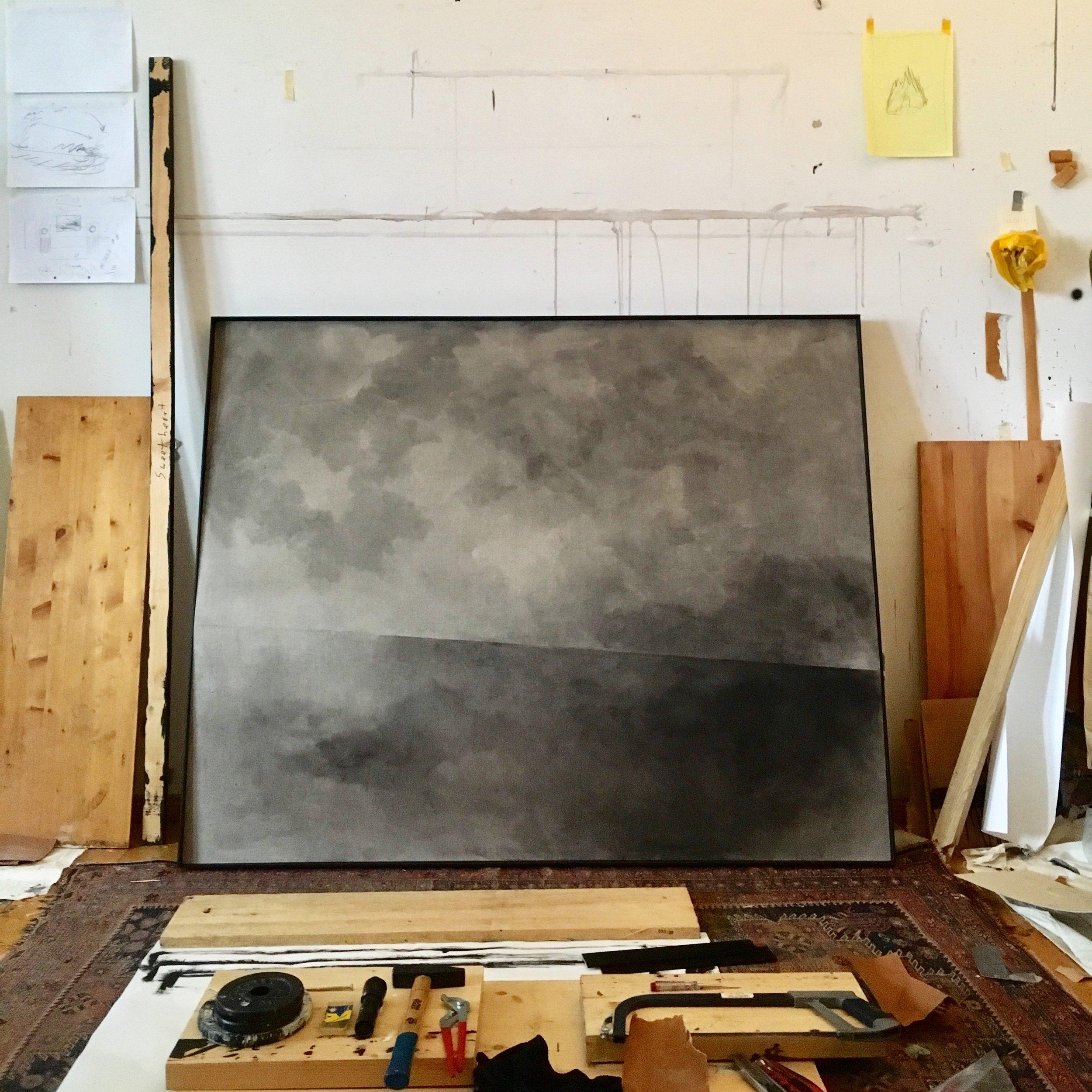 Graphite on canvas, 120x150x5.