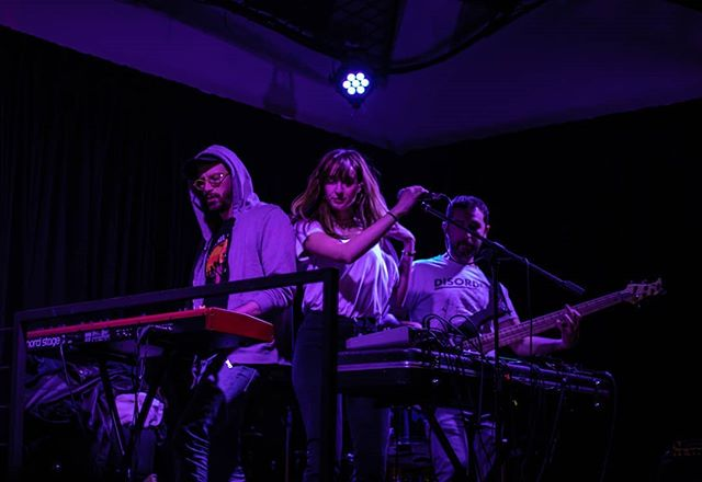 M o n k e y ' s  A n g e l s 👩🐒 Pic by @eli_c_photography from our last live @theyellowbar. 🙏 More amazing photos soon on IG!  Check our new single #LBB, link in bio. . . . #band #LBB #indietronica #synthpop #electronica #romanmusic #rome #romeevents #singer #songwriter