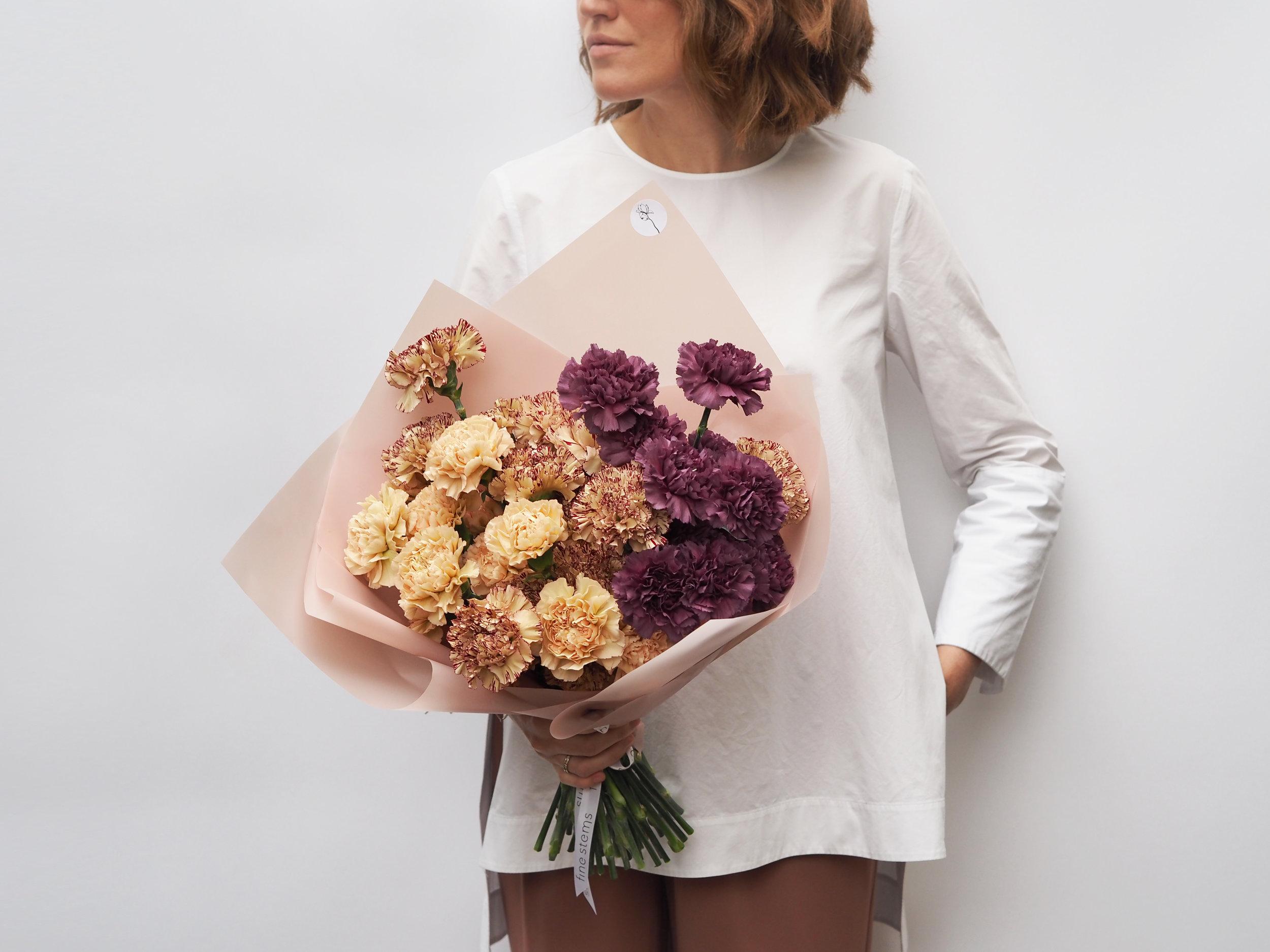 No. 7 - A mono bouquet of seasonal ombre carnations.