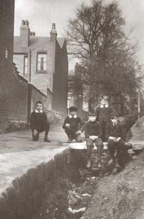 TAKEN APPROX 1913 LOOKING UP NEWTONS WALK