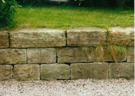 THE STONE HA-HA HELPED KEEP FARM ANIMALS FROM GETTING INTO THE HOUSE GARDEN