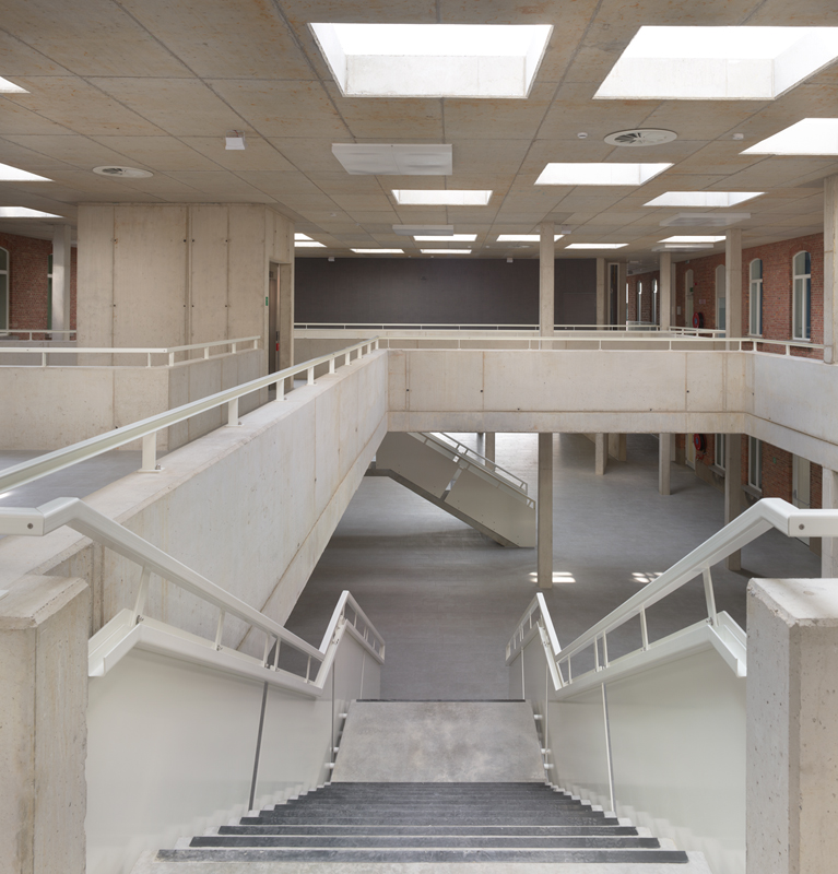 Detail van de trappenconstructie.