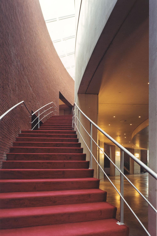 Detail van de trap.