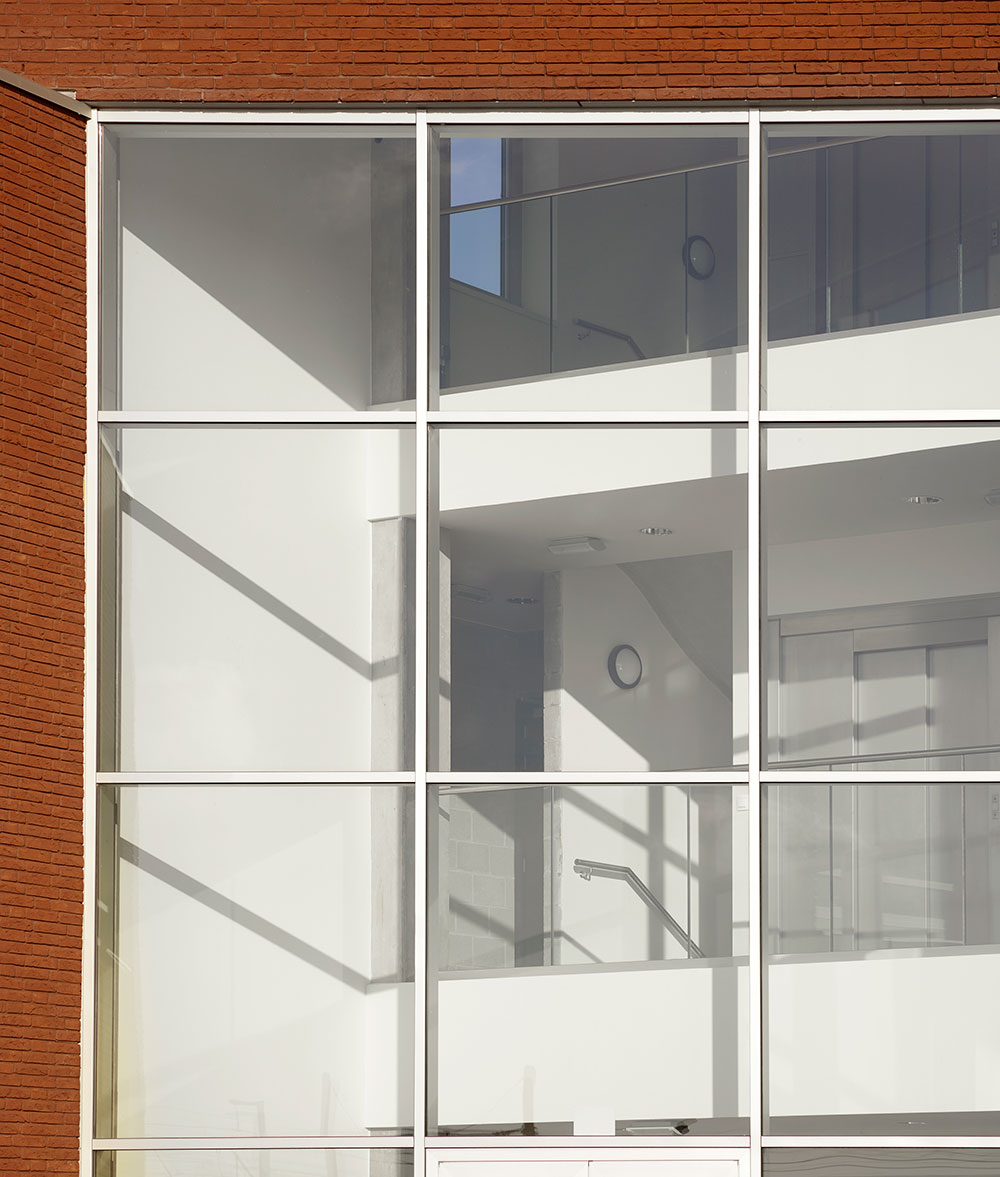 Detail raamconstructie