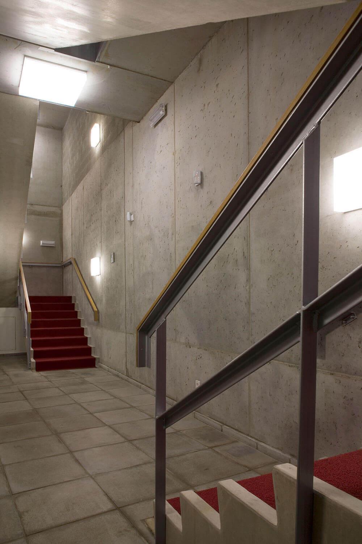Detail van de trappen.