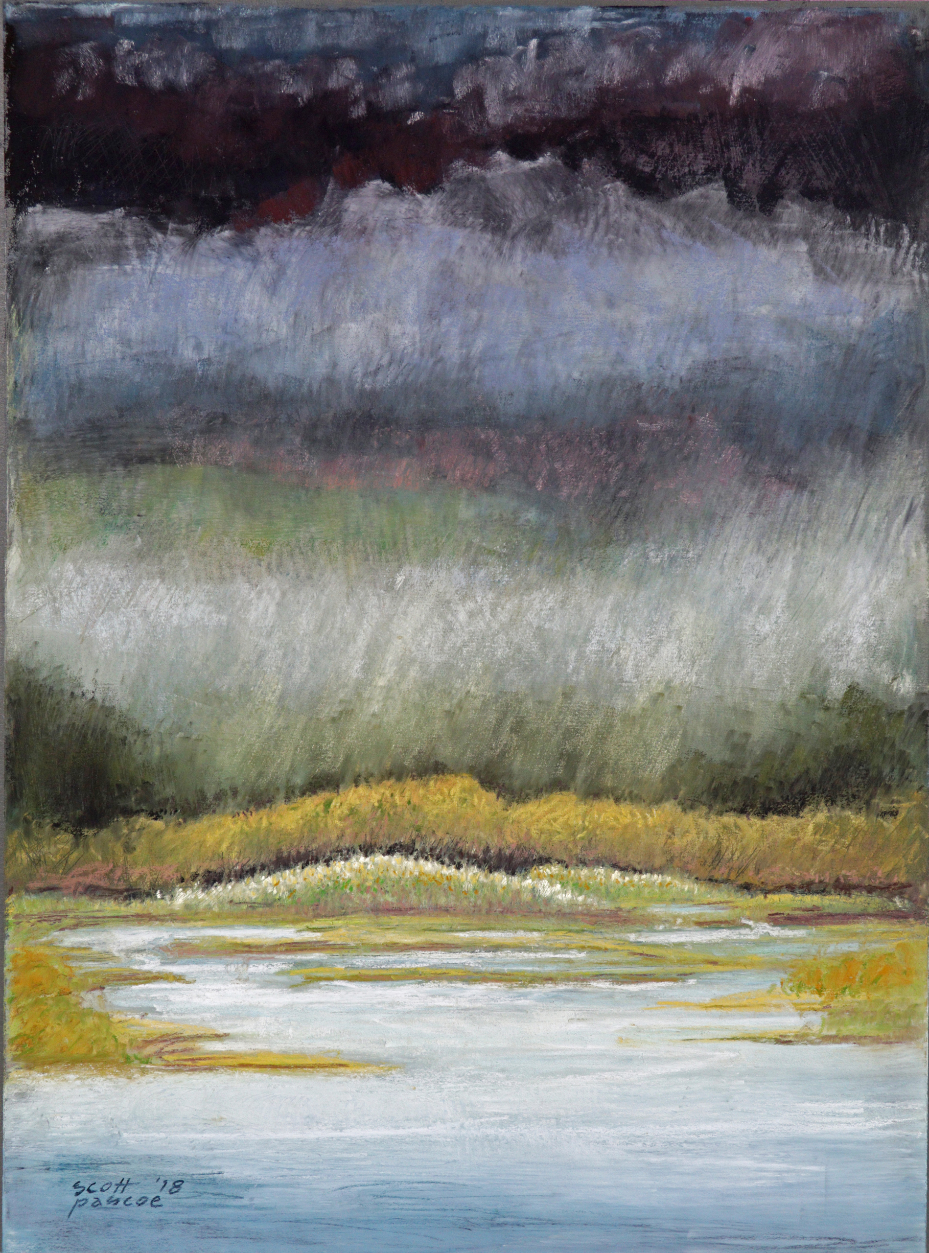 Landfall-Inner Bay Tidal 16x12 Soft Pastel - SOLD