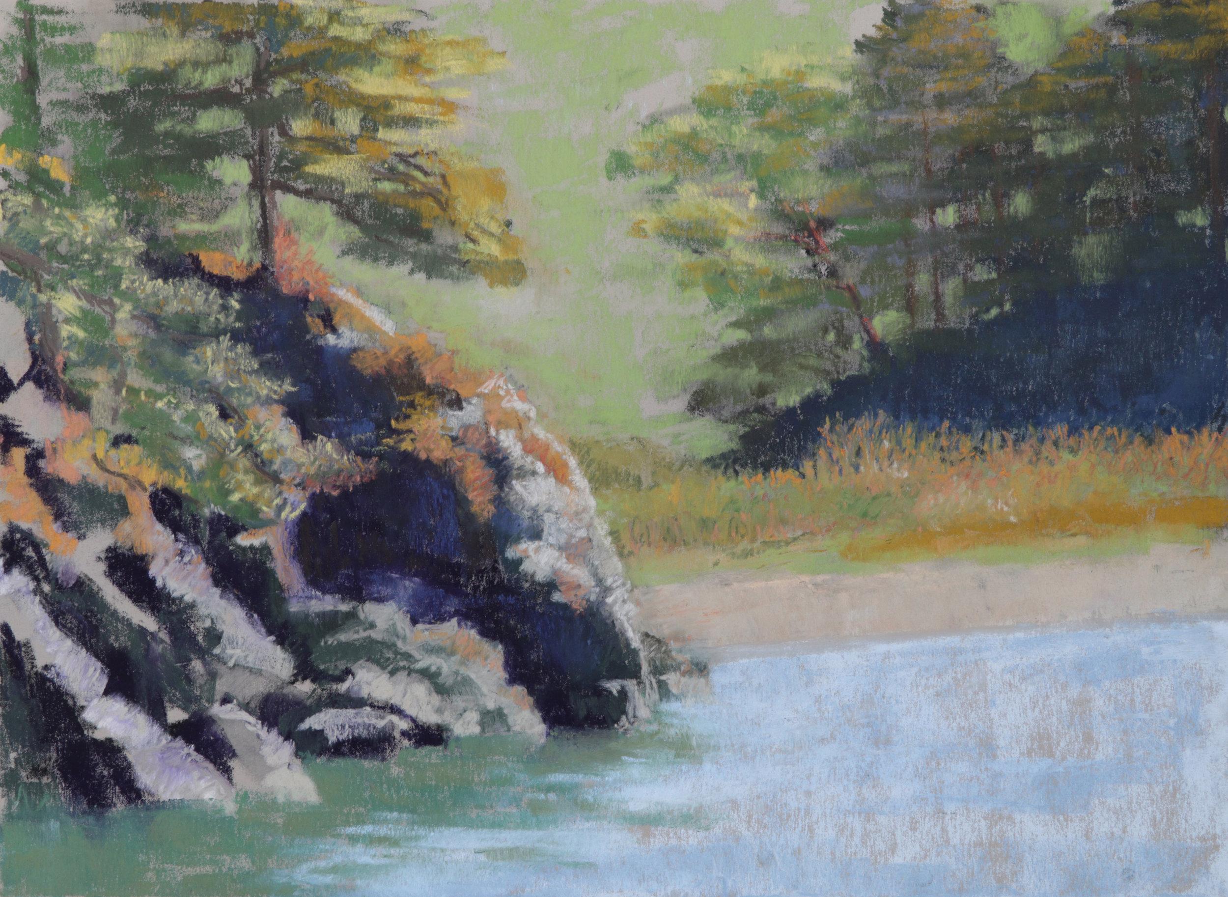 Bowman Bay 12x16 Soft Pastel