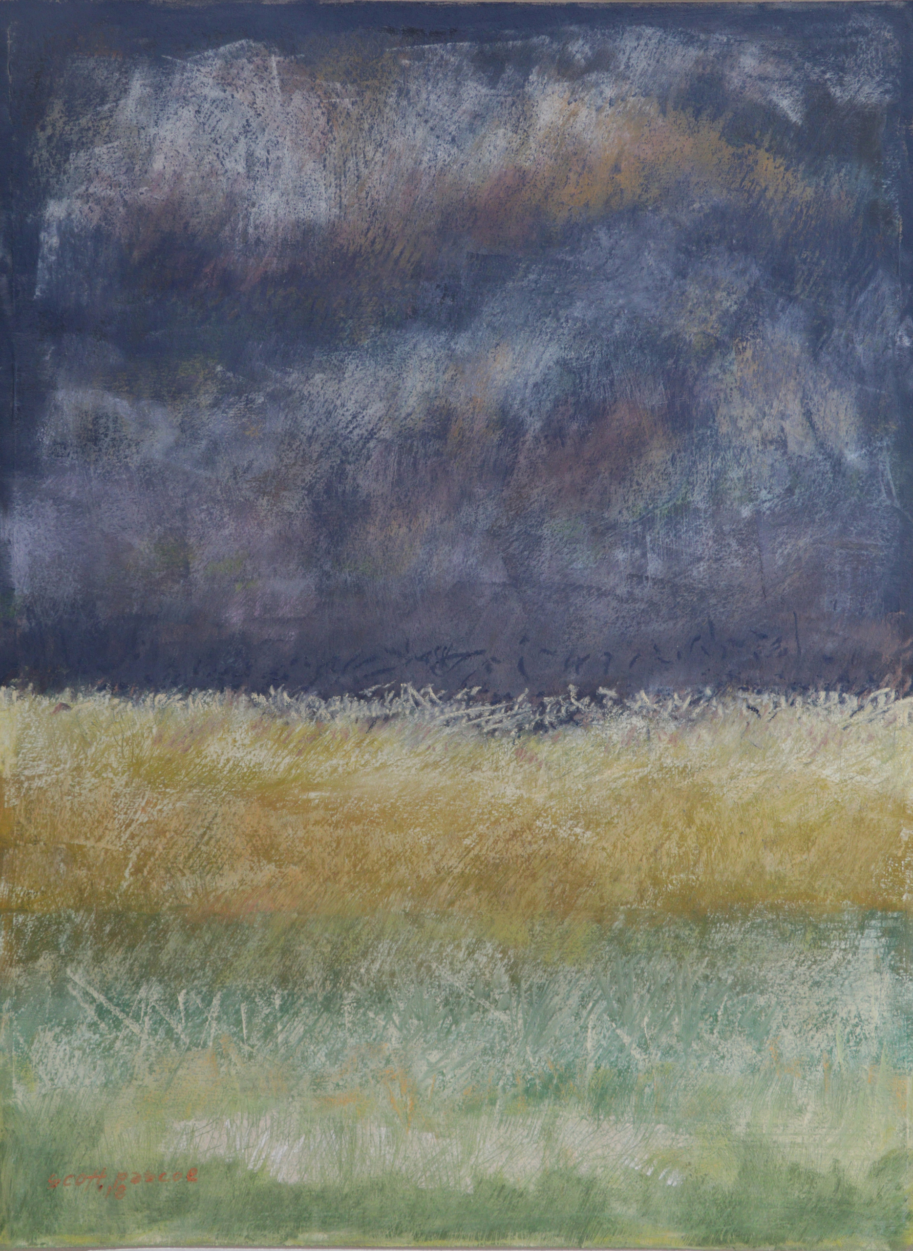 Leaves of Grass 16x12 Soft Pastel