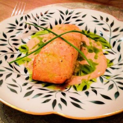 Giorgina's popular fillet of Salmon