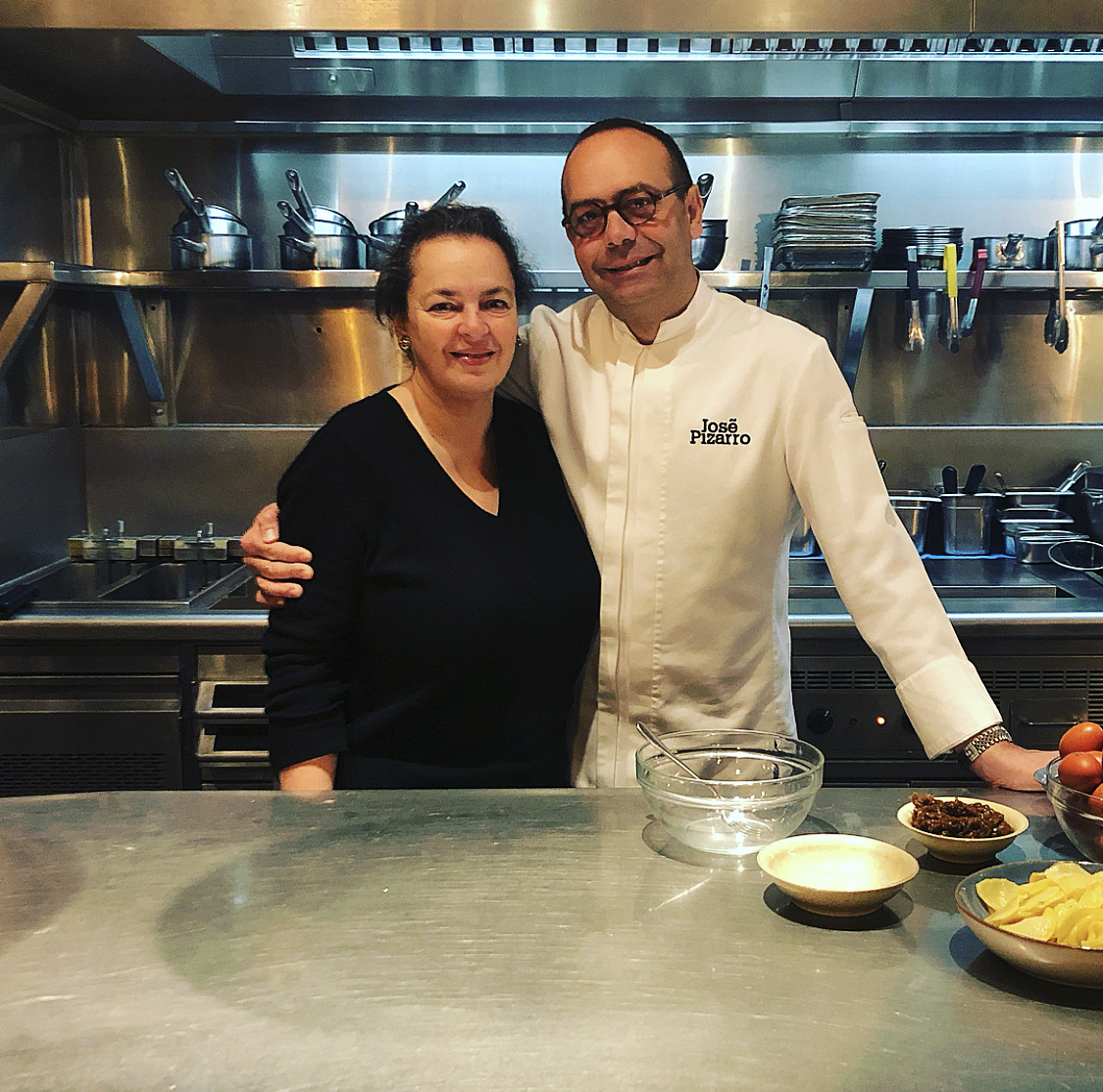 Famous Chef José Pizarro with faithtable Founder, Giorgina Djanogly