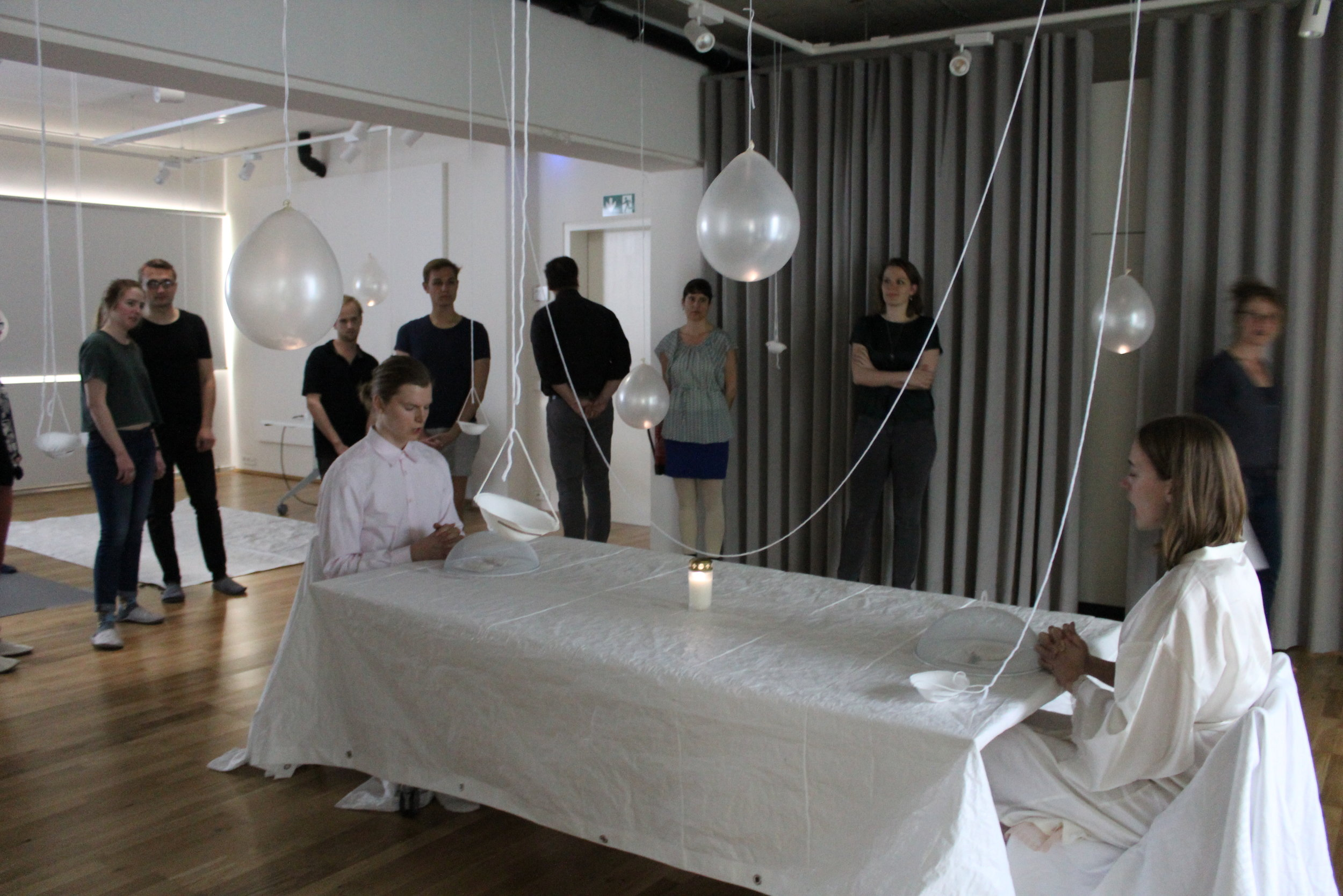 FITTER//HAPPIER   based off of HE WHO SAYS YES by Bertolt Brecht  directed by Enrico Stolzenberg, devised by us
