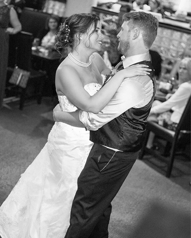 Many more to come for this wonderful wedding @reneespencer84 Congratulations!#firstdance#justmarried#weddingphotojournalism #ottawaweddingphotographer#junebugweddings #blackandwhitephotography #lookslikefilm #weddingbells