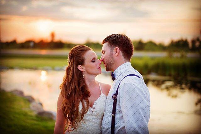 Magical sunset@aquatopia#sunset#coupleportrait #weddingcouple#junebugweddings #quietmoments #justmarried#ottawaweddingphotographer